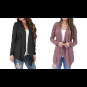 NWOT-2pk Rags&Couture Draped Hacci Cardigans Sz 2X